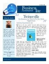 Book Summary: Twitterville