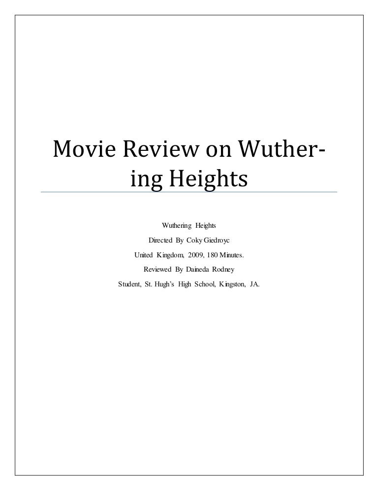 psychological approach wuthering heights It is ten years since the last adaptation of wuthering heights (in the meantime, the novel was adapted by the mtv in 2003, which is self-explanatory as to the output, and the italian rai in 2004.