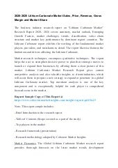 2020-2025 Lithium Carbonate Market Sales, Price, Revenue, Gross Margin and Market Share
