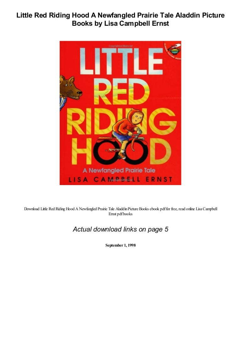 Little Red Riding Hood A Newfangled Prairie Tale Aladdin Picture Boo