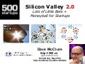 Silicon Valley 2.0: Lots of Little Bets (Hong Kong, May 2013)