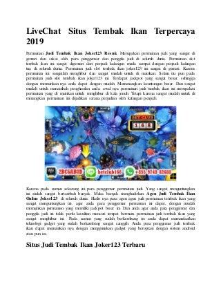 situs togel resmi 2019