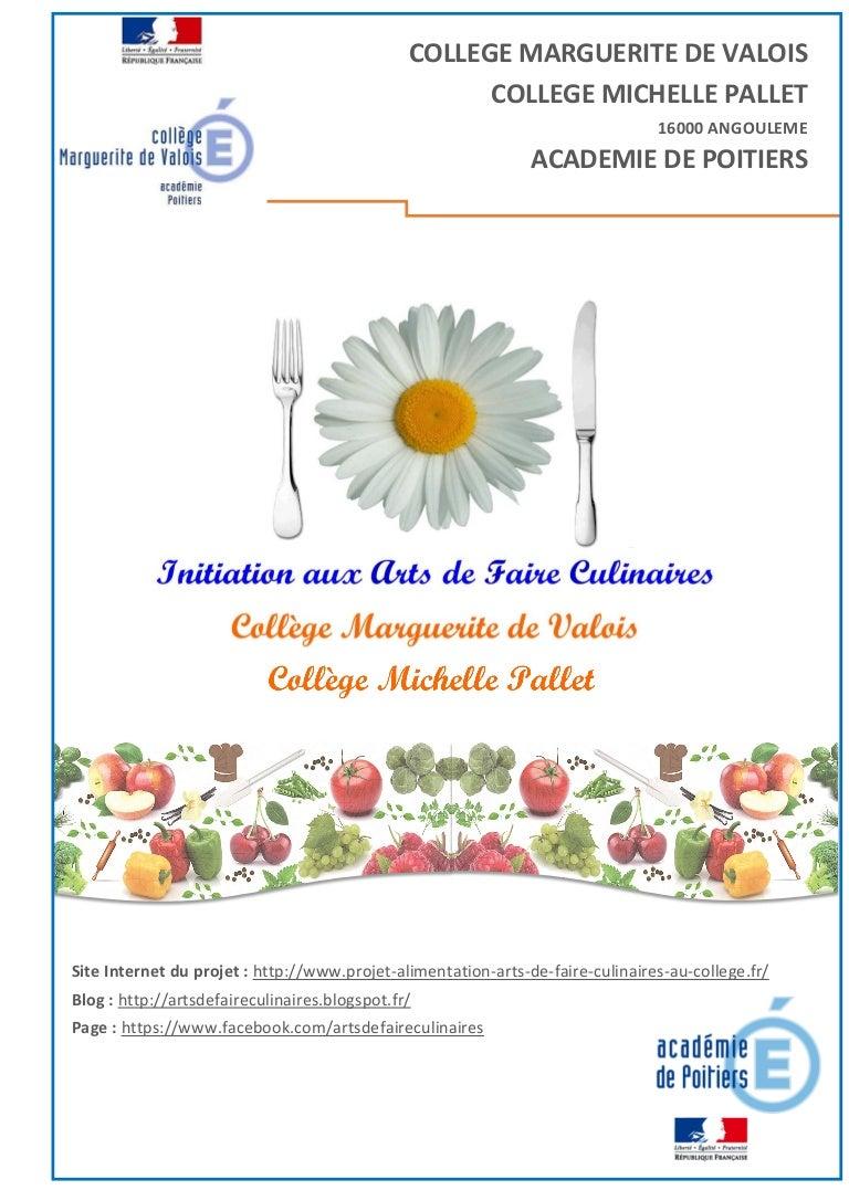 Ambiance Et Style Poitiers livret présentation projet afcc arts de faire culinaires au