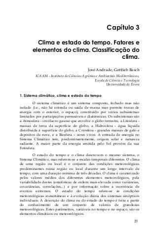 Livro hidrologia clima