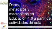 Datos, metadatos y macrodatos