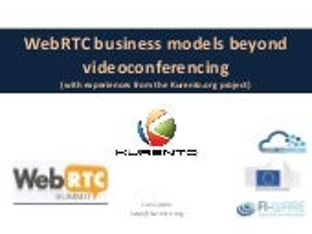 WebRTC business models beyond calls