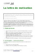 modele lettre de motivation technicien fibre optique