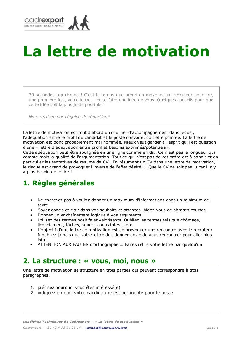 exemple lettre de motivation 0