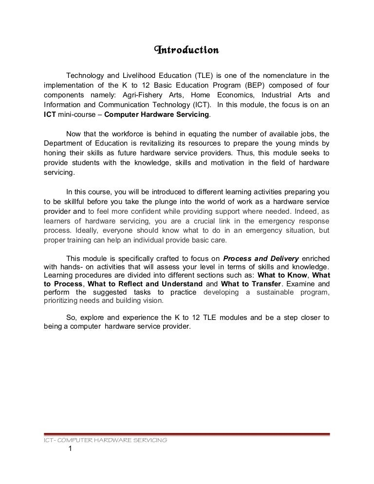 computer hardware servicing learning module v 2 0 rh slideshare net Computer Software Manual Fundamental of Computer PDF
