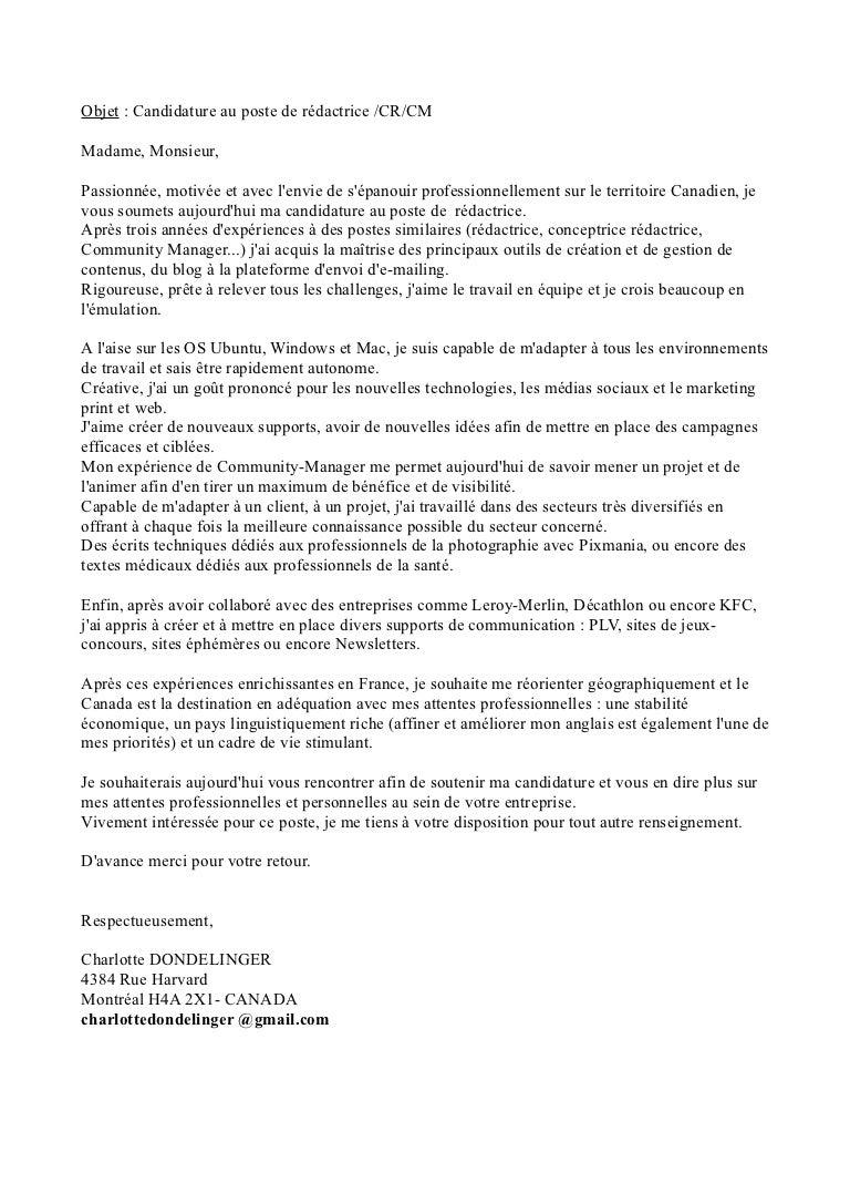 Doc Lettre De Motivation Leroy Merlin Magasinier
