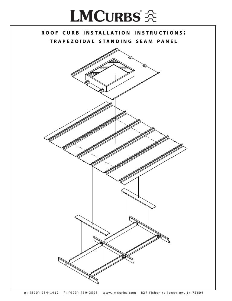 LMCurbs Roof Curb Installation Instructions For