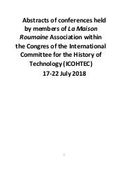 LMR - 2018 ICOHTEC Congress -abstracts of conferences held by members of La Maison Roumaine