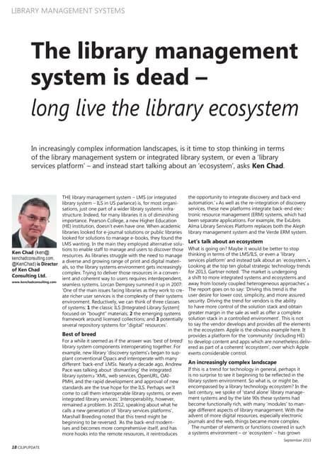 Lms is dead_long_live_ecosystem_cilip update_sept2013