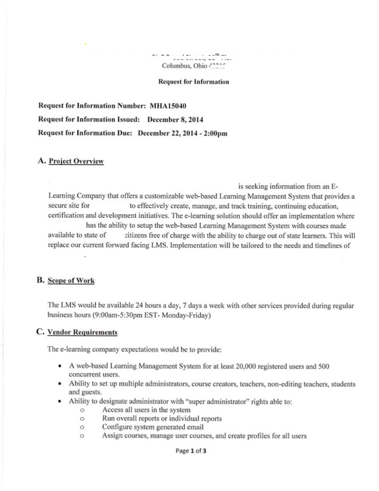 Lms rfp example lms rfp sample for Rfp presentation template