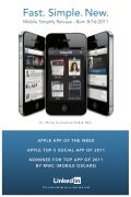 LinkedIn iPhone 2011 launch poster