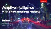 Adaptive Intelligence:  What's Next in Business Analytics