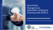 Sims Metal Management Automates Enterprise Planning with EPBCS