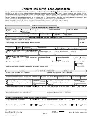 Loan application-1003-2005