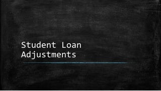 Loan adjustments