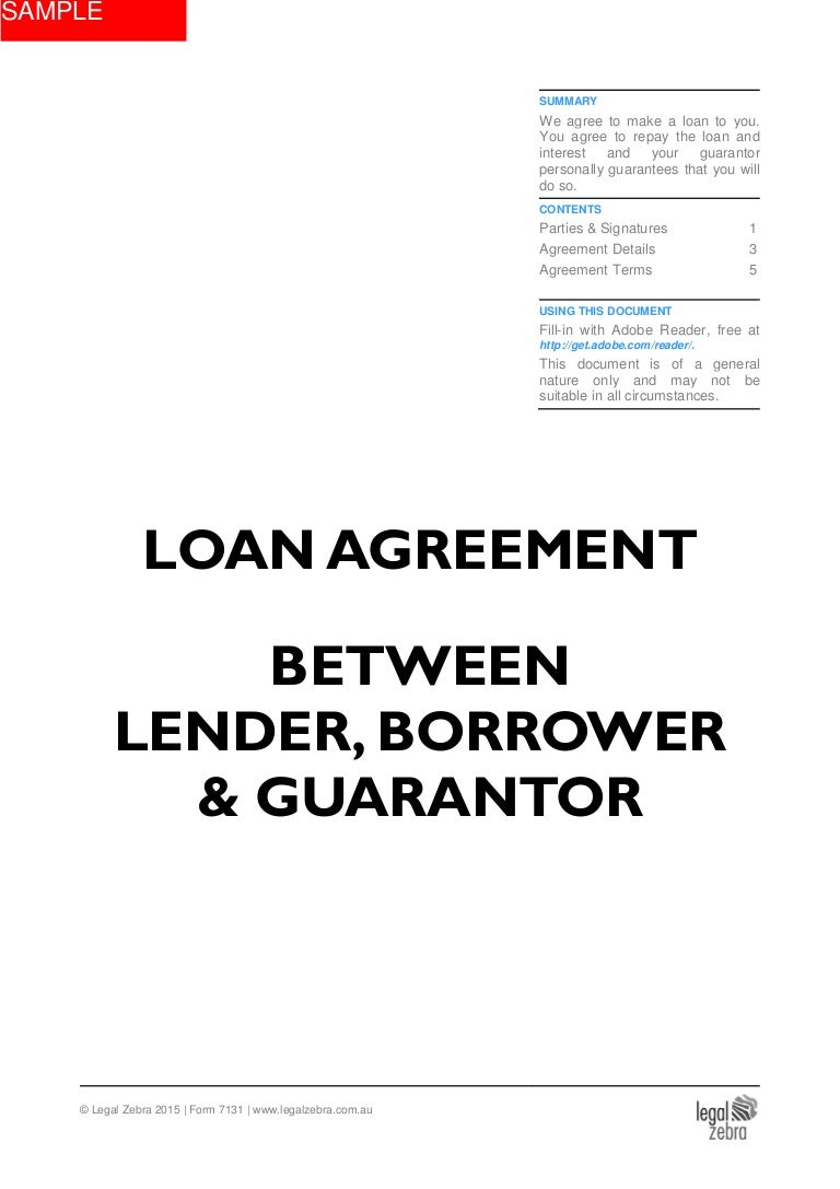 Loan Agreement Between Lender Borrower Guarantor