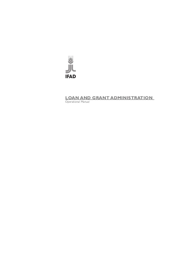 IFAD Loan and Grants Operational Manual