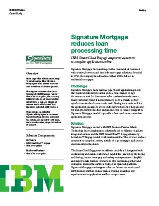 Signature Mortgage reduces loan processing time