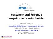 Sales Strategy for Asia-Pacific Expansion for Software / Internet / Technology company
