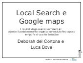 Local Search e Google Maps