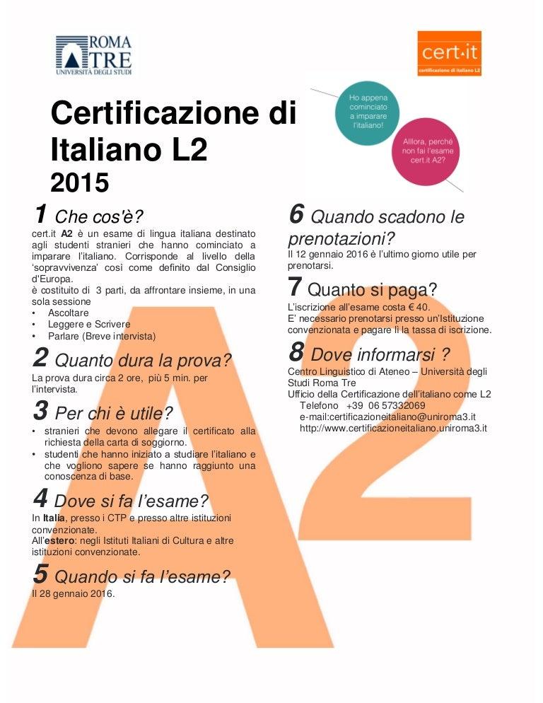Emejing Test Lingua Italiana Per Carta Di Soggiorno Contemporary ...