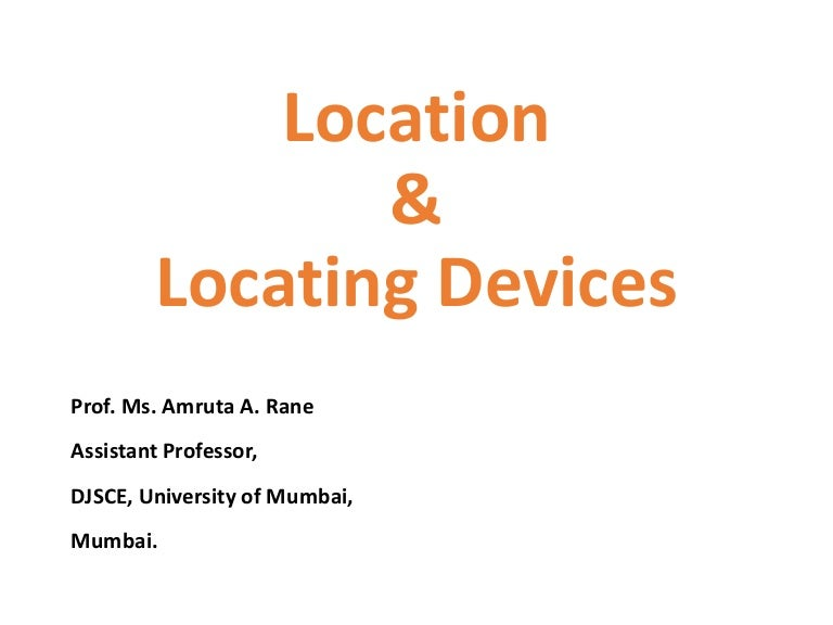 Location And Locating Devices Used In Jigs And Fixtures