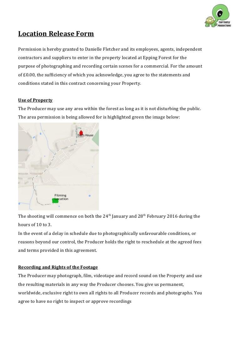Location release form – Location Release Form