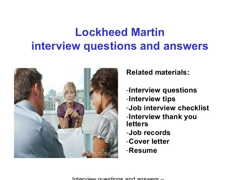 lockheed martin interview questions and answers