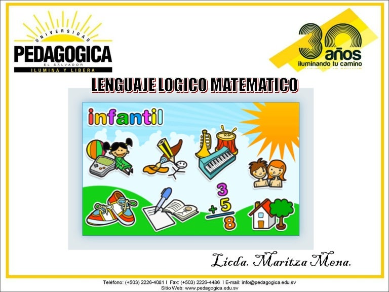 Lenguaje Lógico matemático Infantil