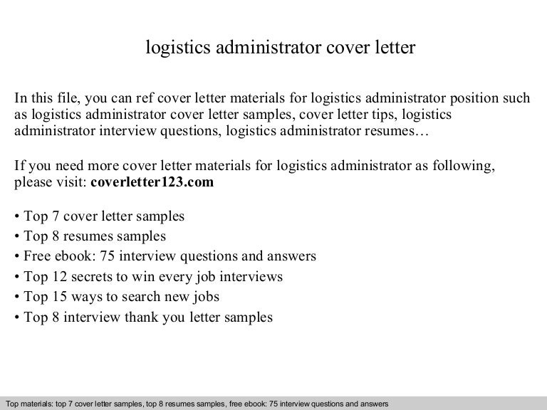 Cover letter for logistics job boatremyeaton cover letter for logistics job thecheapjerseys Gallery