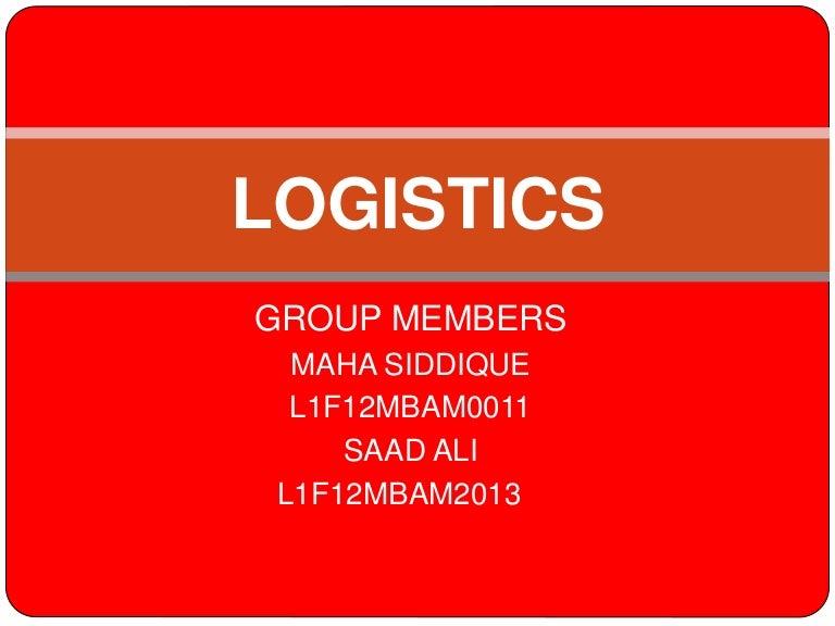 Logistics and tcs111
