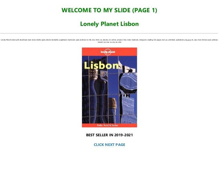 Free Read Book [PDF]@^ Lonely Planet Lisbon !Pre~Order