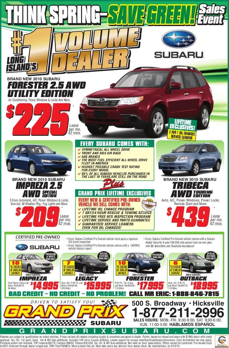 Subaru Certified Pre Owned 2 >> Long Island Subaru Sale