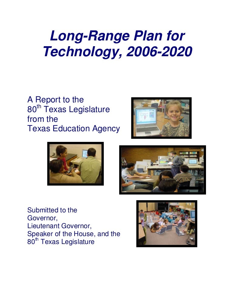 Ccisd Calendar 2016-2020 Long Range Plan For Technology 2006 2020