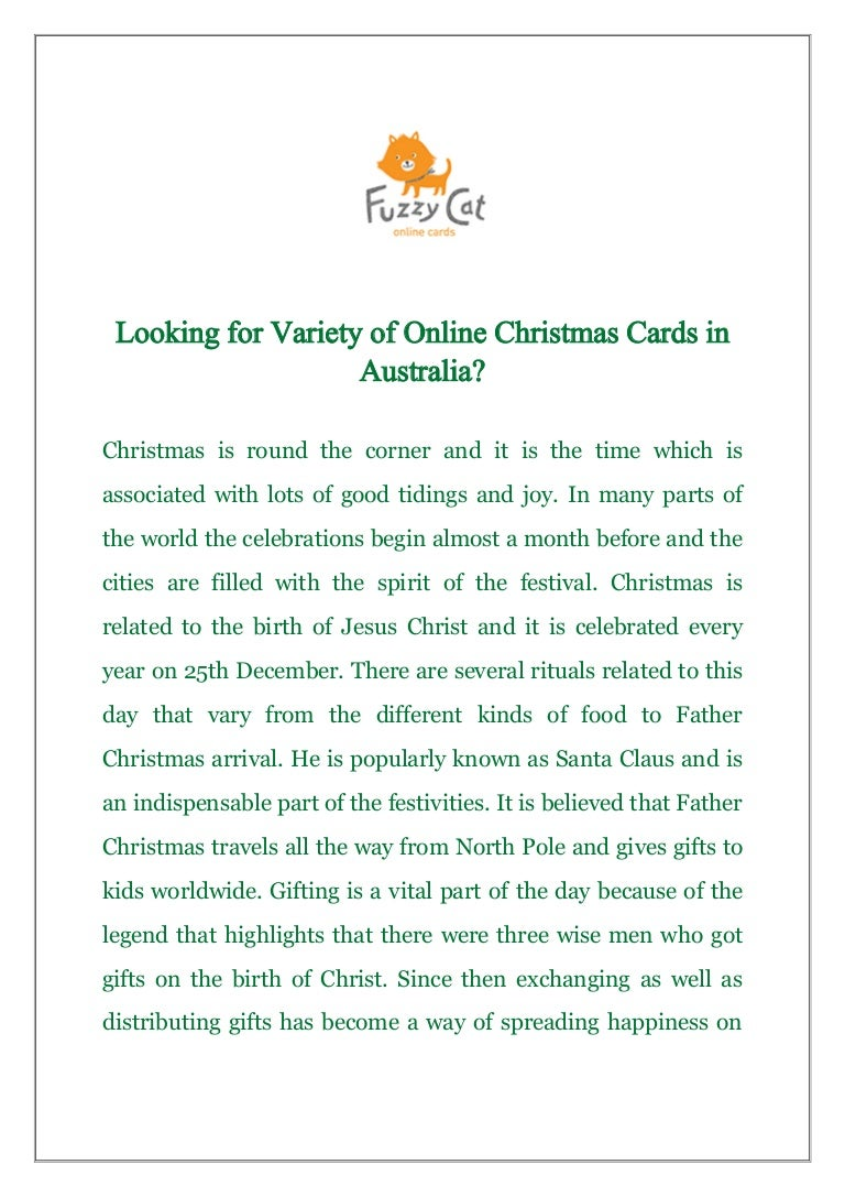 Looking for variety of online christmas cards in australia