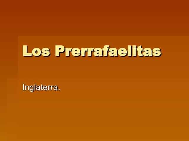 Los Prerrafaelitas 1