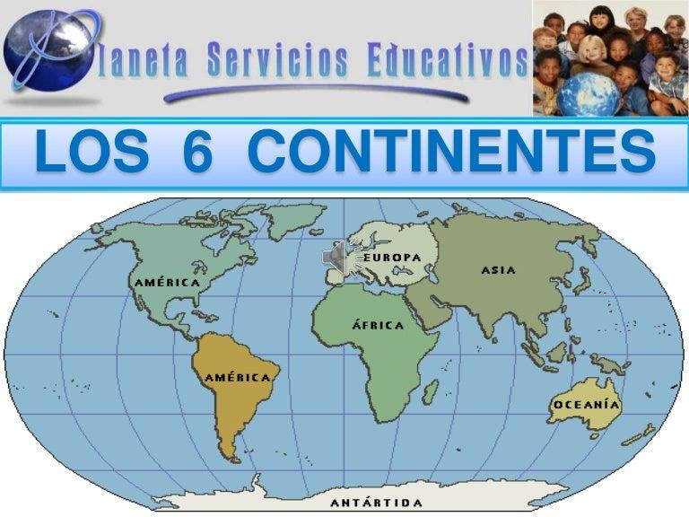 LOS 6 CONTINENTES