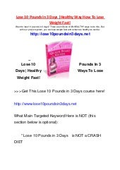 how to lose weight fast for kids stepstep