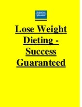 Lose weight dieting   success guaranteed