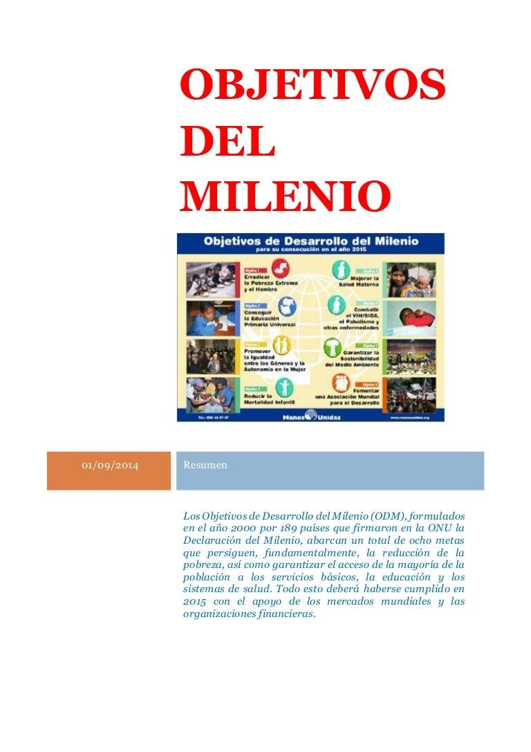 Los objetivos del Milenio
