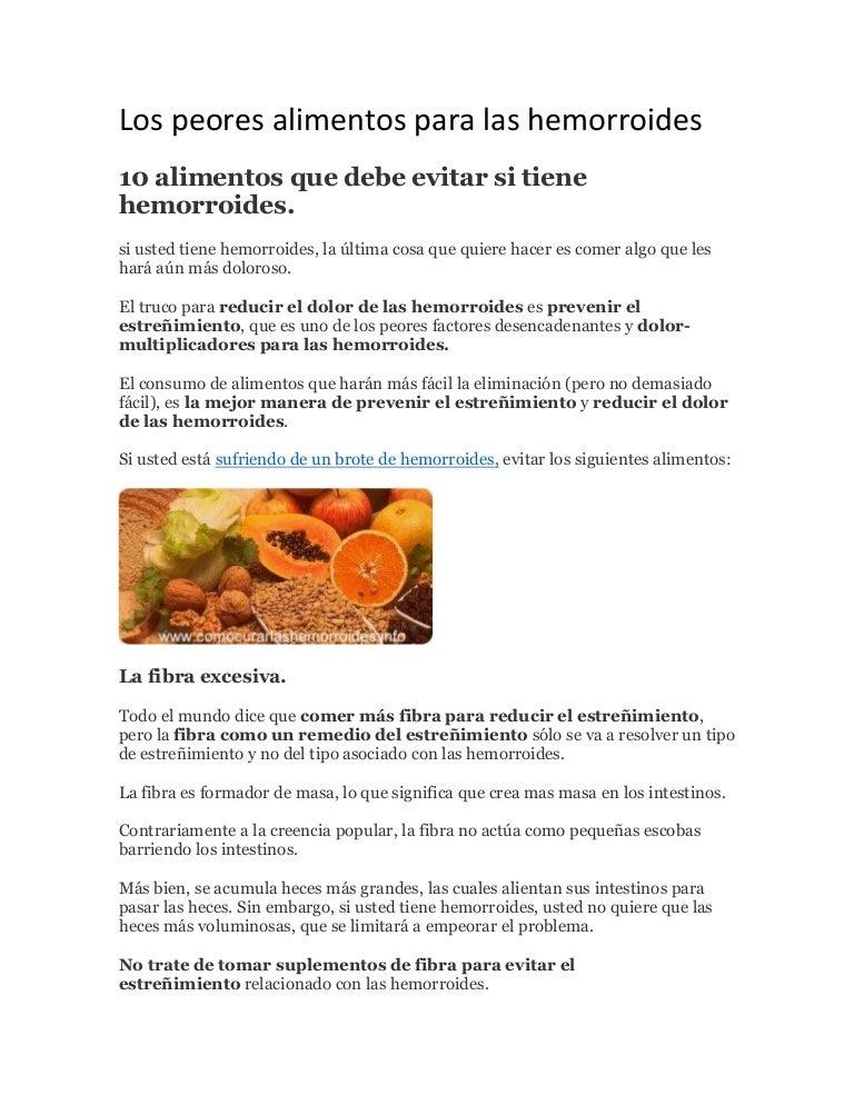 Los peores alimentos para las hemorroides - Alimentos prohibidos con hemorroides ...