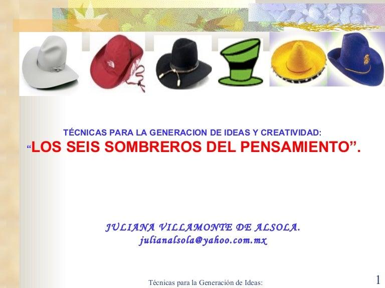 Los Seis Sombreros Del Pensamiento 75710fcf935