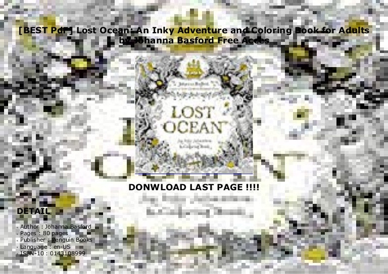 BEST PdF] Lost Ocean: An Inky Adventure And Coloring Book For Adult…
