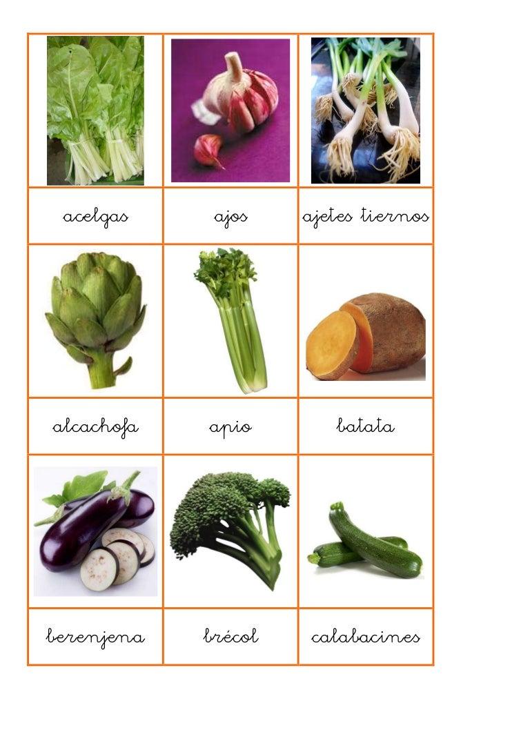 frutas verduras y hortalizas nombres
