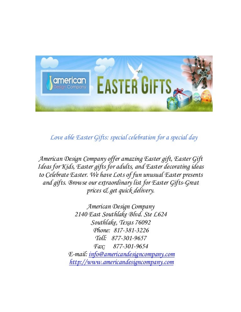 Love able easter gifts special celebration for special day negle Gallery