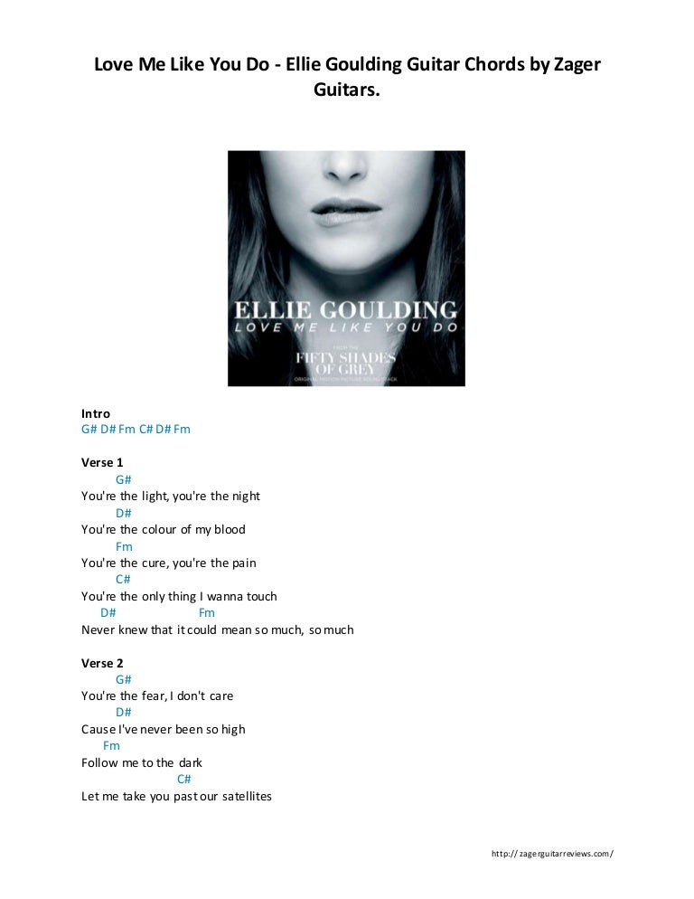 Love me like you do -Ellie goulding by zager reviews